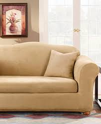 sure fit stretch faux suede 2 piece slipcover collection
