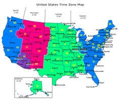 united states map with time zones and area codes helpful gives you the current time in each time zone across