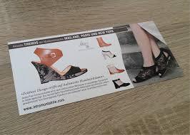 italien design schuhe edler flyer für italienische designer schuhe werbeagentur kramer