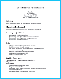 Example Of Administrative Assistant Resume by Clerical Resume Examples Printable Clerical Resume Picture Medium
