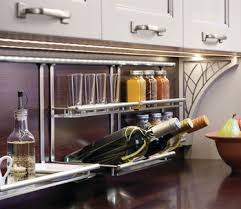 where to buy glass shelves for kitchen cabinets wine bottle and glass shelf backsplash railing system in
