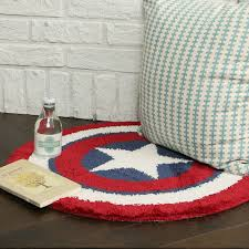 Round Bathroom Rug by Round Floor Rug Avengers Captain America Shield Bath Bedroom Mat