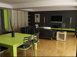 Lime Green Table L Apartment Residence White Curved Bar Table In Open Kitchen Of