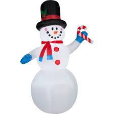 snowman curtains kitchen gemmy airblown christmas inflatables 7 u0027 festive snowman walmart com