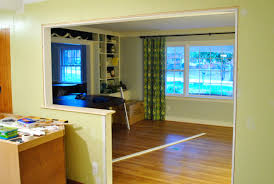 How To Build An Interior Wall How To Trim Out A Cased Opening And A Half Wall Young House Love