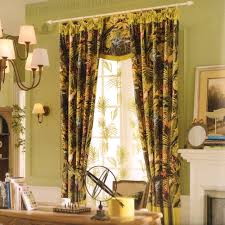 room darkening curtains country green floral jacquard