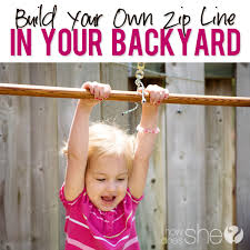 Zip Line For Backyard by Build Your Own Zip Line