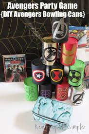 cub scout halloween party games avengers party game diy avengers bowling cans perfect for an
