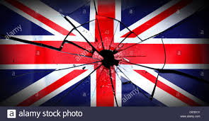 My National Flag The Union Flag Smashed As If It Were Made Of Glass See My Other