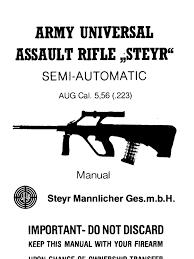 steyr mannlicher army universal assault rifle