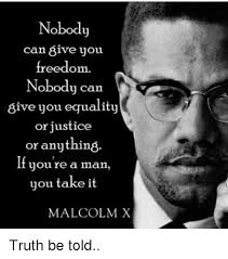 Malcolm X Memes - nobody can 8ive you freedom nobody can 8ive you equality or justice