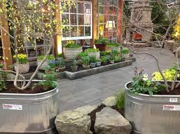galvanized water trough garden home design ideas and pictures