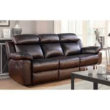 Leather Reclining Sofa Loveseat Abbyson Braylen 3 Top Grain Leather Reclining Living Room