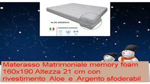 misure materasso eminflex materasso memory onda matrimoniale misura 160x190 h21 cm con