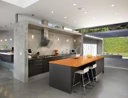 Open Kitchen Designs Kitchen Nice Looking Open Kitchen Design With Grey Ladder And