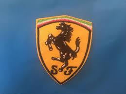 ferrari badge ferrari embroidered iron on patch ferrari sewing patch ferrari