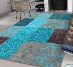 Modern Rugs Cheap Vintage 8105 Turquoise Rugs 80 X 150cm Modern Rugs Uk Modern