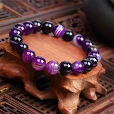 natural beads bracelet images Natural stone love purple bead bracelet unique and trendy jpg