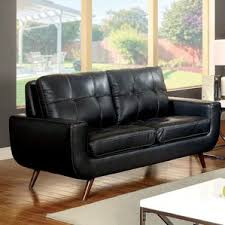 modern faux leather sofas couches allmodern