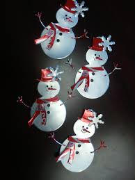 recycled snowmen coca cola cans u0026 the tab soda can ornaments