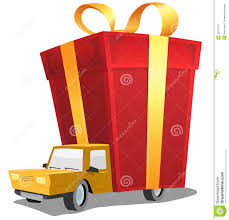 delivery birthday presents birthday gift on delivery truck stock image image 36757971