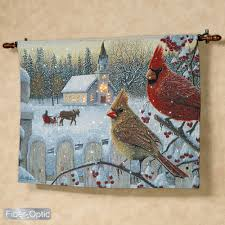 norlien white crimson morning lighted wall tapestry with rod