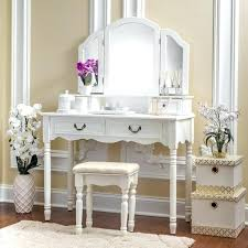 Bedroom Vanity Table With Drawers White Stained Wooden Bedroom Vanity Pile Up Drawers And Rectangle