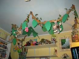 Monkey Classroom Decorations Interior Design Creative Jungle Themed Decorations Beautiful