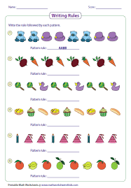 patterns in kindergarten pattern worksheets