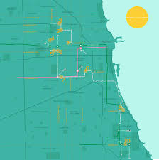 Chicago Heights Map by In The Beginning Sometimes I Left Messages In The Street