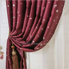 Wine Colored Curtains Pattern Wine Color Quality Insulated Thermal Curtains