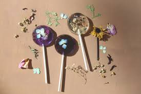 Homemade Flowers Homemade Pressed Flower Lollipops