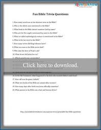 printable fun trivia questions lovetoknow