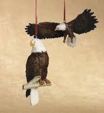 bald eagle ornaments set of 2 ornaments