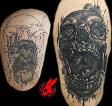evil skull cover up by jackie rabbit by jackierabbit12 on