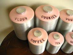 only the most perfect retro kitchen canisters ever by latonya