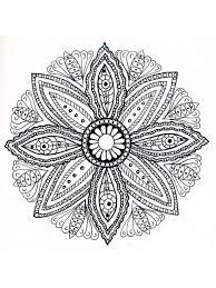 flower mandala coloring pages adults free printable flower