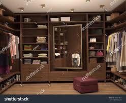 dressing room interior modern house 3d stock illustration