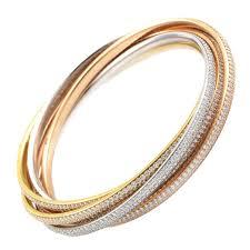 multi colored gold bracelet images Carter trinity diamond multicolor gold pave bangles more jpg