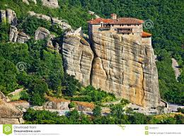 Meteora Greece Map by View Of The Holy Monastery Of Rousanou St Barbara Meteora