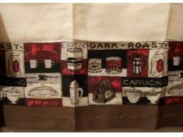 theme valances coffee themed kitchen curtains valance window topper 14 95