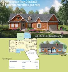 split bedroom plan 25610ge cost effective craftsman house plan craftsman