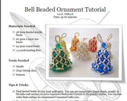 beaded ornament kit bell