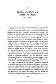 holden caulfield 5 holden caulfield and american protest university publishing