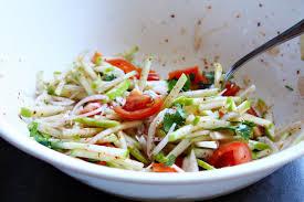 spicy green apple salad ยำแอบเป ล