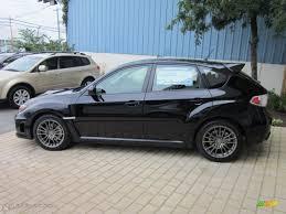 subaru sti 2011 hatchback obsidian black pearl 2011 subaru impreza wrx wagon exterior photo