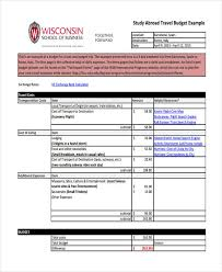 Travel budget template 9free word pdf format download free