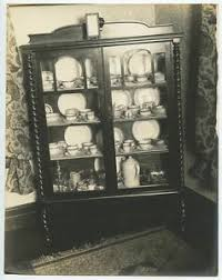how to arrange dishes in china cabinet details about antique china cabinet w finely carved wood dishes glassware vintage photo