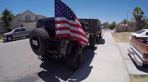 Car Antenna Flags American Flag Mounted On Jeep Youtube
