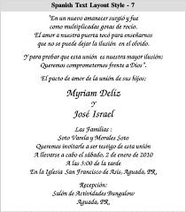 spanish wedding invitation wording blueklip com